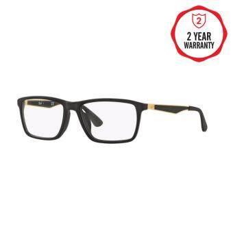 Ray-Ban แว่นสายตา รุ่น - RX7056F - Shiny Black (2000) Size 55 Demo Lens