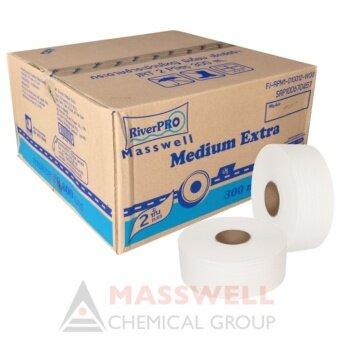 RiverPro กระดาษชำระม้วนใหญ่ JRT รุ่น MEDIUM 2-Ply 300เมตร (12ม้วน) ขายยกลัง