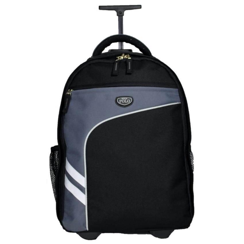 Romar Polo กระเป๋า กระเป๋าเป้ล้อลาก Code R123418 (Black/Grey) ...