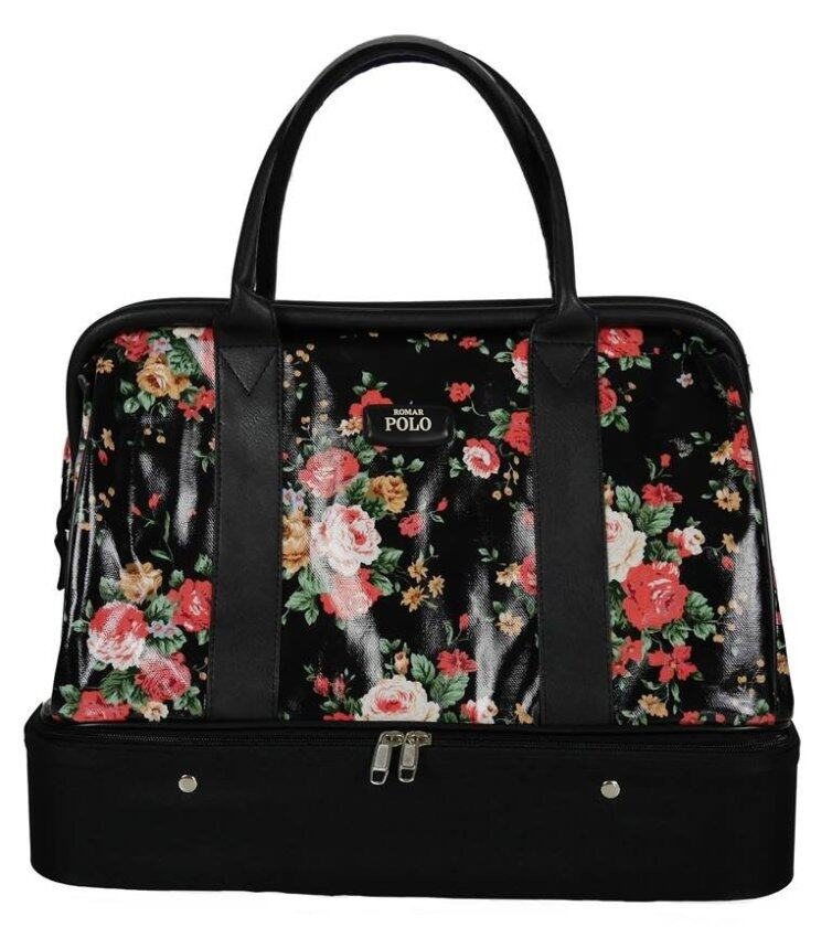 Romar Polo กระเป๋าเดินทาง กระเป๋าผู้หญิง กระเป๋าหิ้ว กระเป๋าถือ 16 นิ้ว รุ่น AsGolfBag Blossom 73216 (Black)