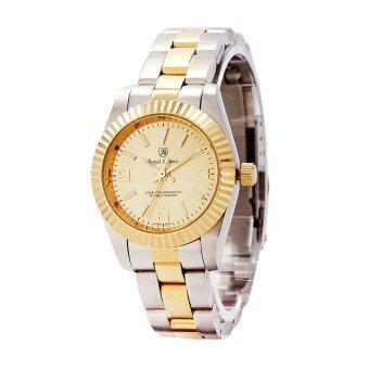 Royal Crown นาฬิกาข้อมือสุภาพสตรี สายสแตนเลส รุ่น 3662L - Gold/Silver
