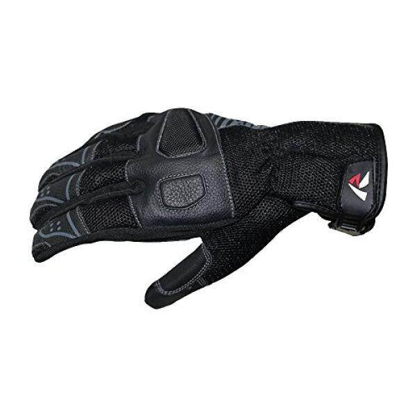 RTECH Prima Motorcycle / Motorbike / Cycling Powresports Full Finger Gloves in Leather for Riding