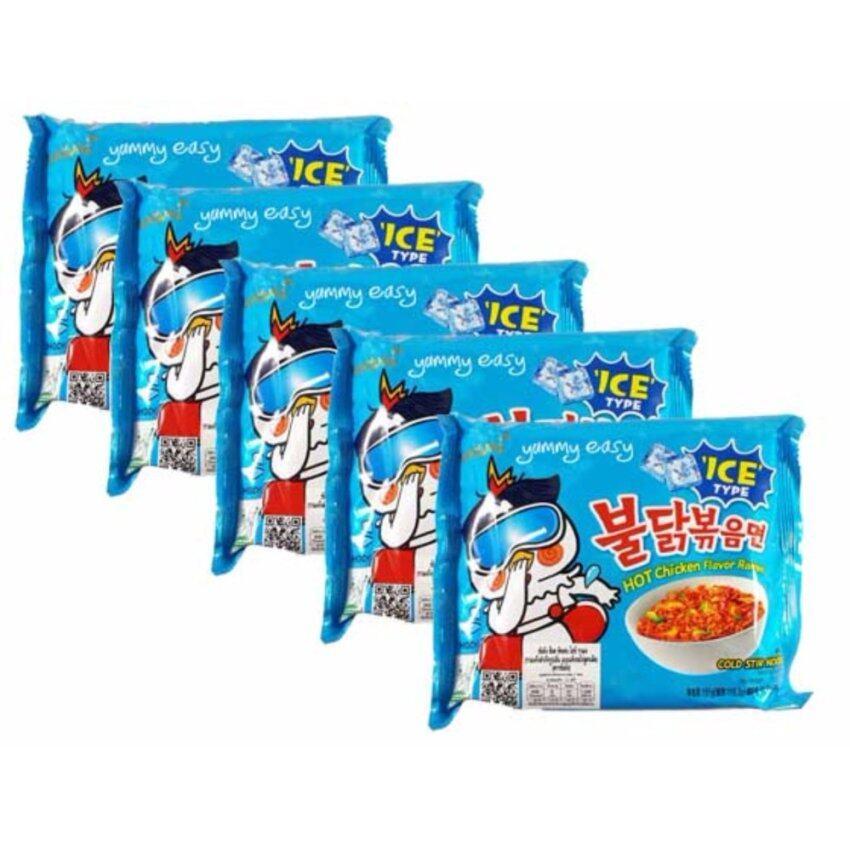 มาม่าเกาหลี Samyang Hot chicken Ice Ramen สูตรเย็นแบบแห้งรสไก่สูตรเผ็ด(ตราซัมยัง) 140g แ ...