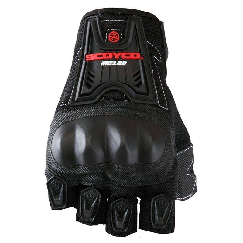 Scoyco MC12D Motorcycle Half Finger Summer High Protective Gloves Black - Intl