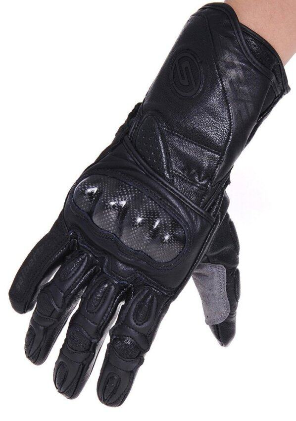 Seibertron SP2 SP-2 ADULT On-Road Street Racing Motorcycle Gloves Genuine Leather Gloves Black S - intl