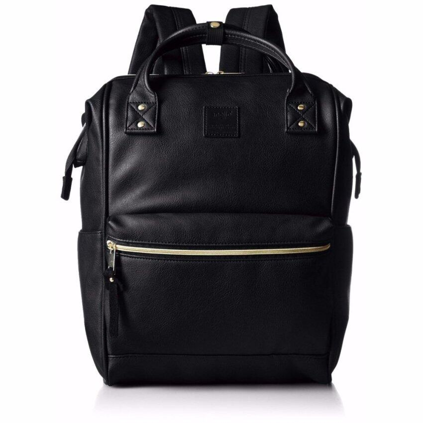 【Ship from Japan】 [Anello] Backpack leather mouthpiece backpack large AT-B1211 black - i ...