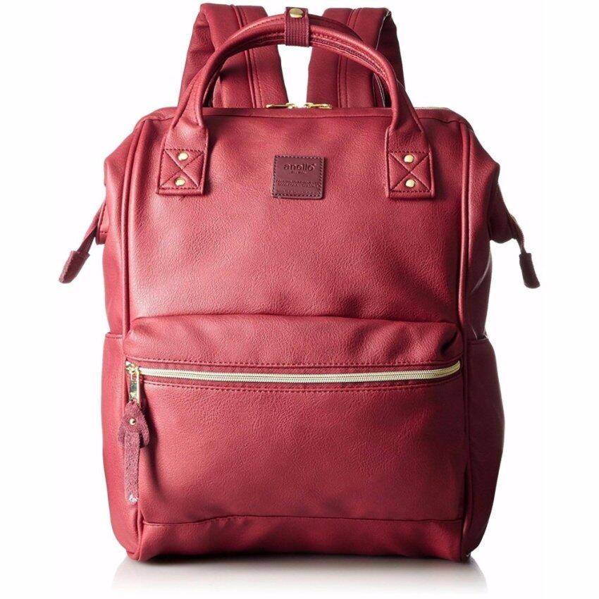 【Ship from Japan】 [Anello] Backpack leather mouthpiece backpack large AT-B1211 wine - in ...