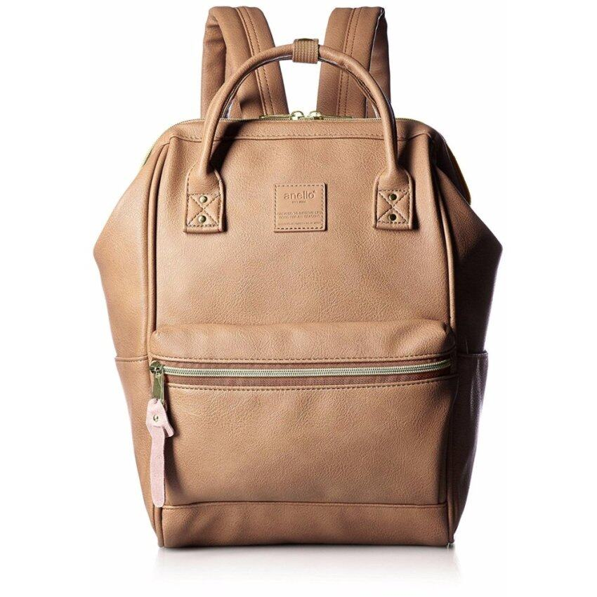 【Ship from Japan】 Anello Backpack leather mouthpiece Luc small AT-B1212 PI - intl ...