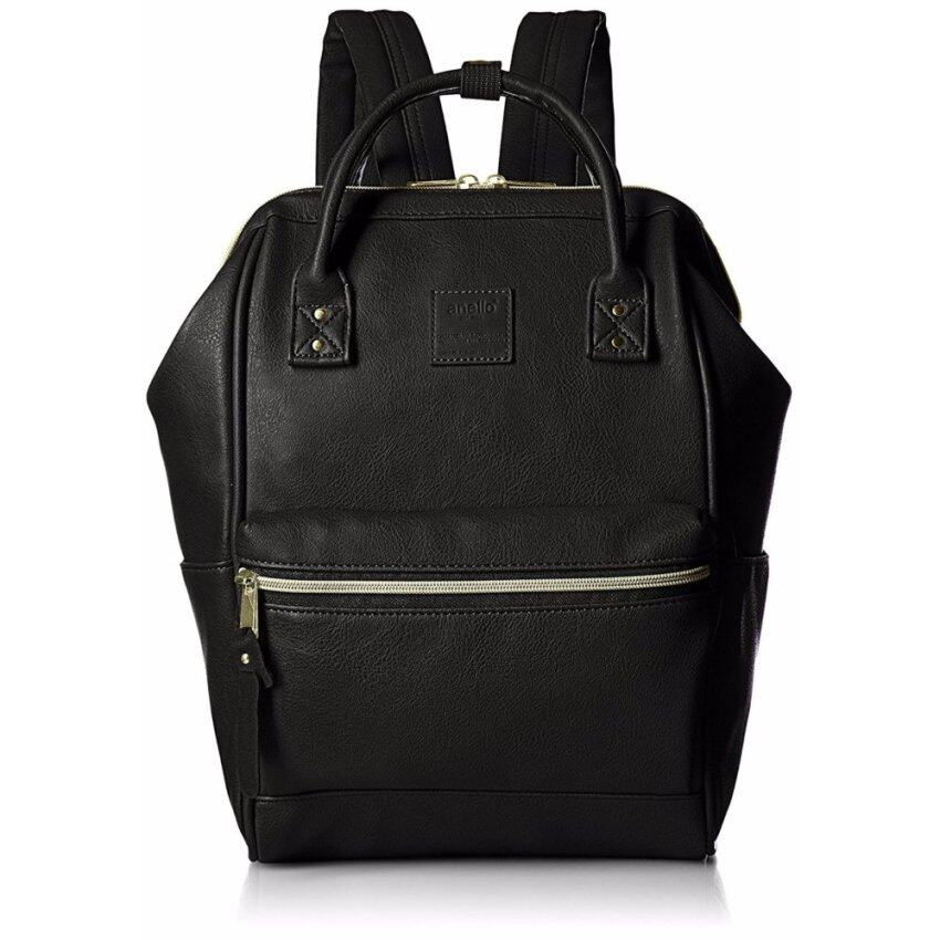 【Ship from Japan】 Anello Backpack leather mouthpiece Luc small AT-B1212Bk - intl