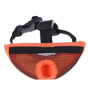 Short Nasal Dog Anti Bite Barking Mask Bulldog MouthMuzzle(Orange)-L - intl
