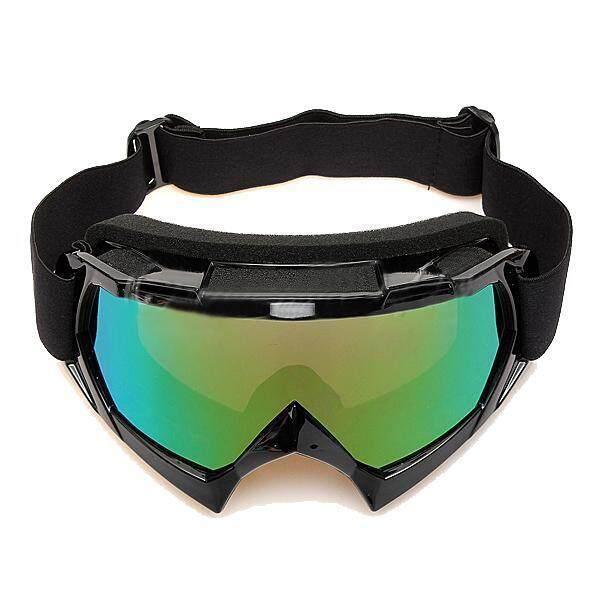 Single Lens Motocross Off-road ATV Dirt Bike Motorcycle Skiing Goggles Eyewear Black