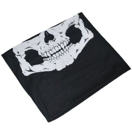 Skeleton Face Mask Scarf Tour Skull Mask Cycling Bike Motorbike Sporting Black - INTL