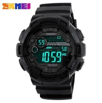 SKMEI Men Sport Watch Outdoor Waterproof Men 's Electronic Watch 1243 Black - intl