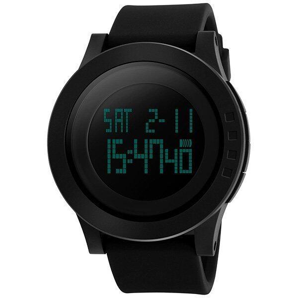 ด่วน Skmei นาฬิกาข้อมือ กันน้ำ ผู้ชาย ดิจิตอล รุ่น 1142 สีดำ LED DigitalWater Resistant Sport Men Watch- Black กำลังลดราคา