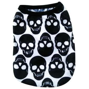 Skull Pattern Summer Pet Dog Clothing Puppy Cat Clothes VestT-shirt Clothes for Dogs Shirt Apparel Chihuahua Clothes Size XS -intl
