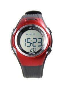 Sport center Spovan นาฬิกาวัดชีพจร- Red