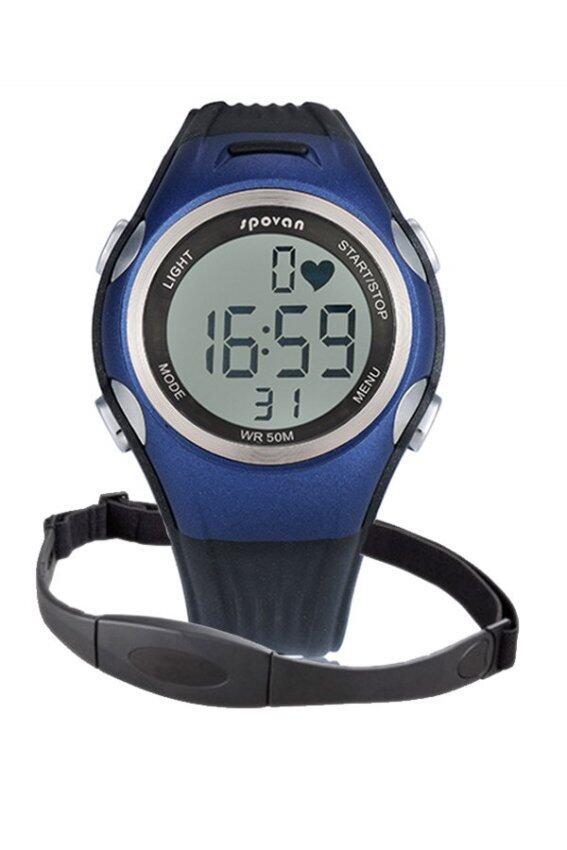 แนะนำ Sport center Spovanนาฬิกาวัดชีพจร- Blue ลดราคา