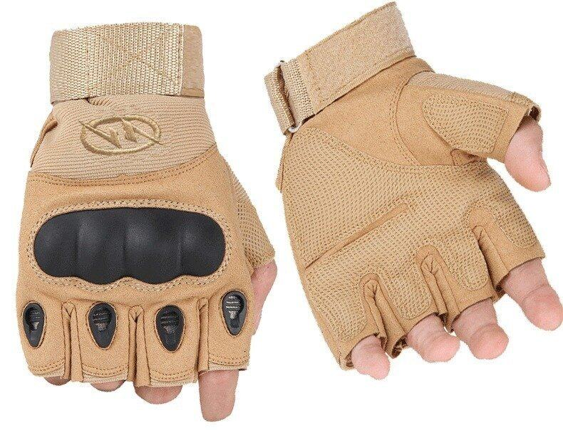 Sport Gloves Fingerless Tactical Gloves for Motocycle Cycling Gym Climbing L (Yellow)