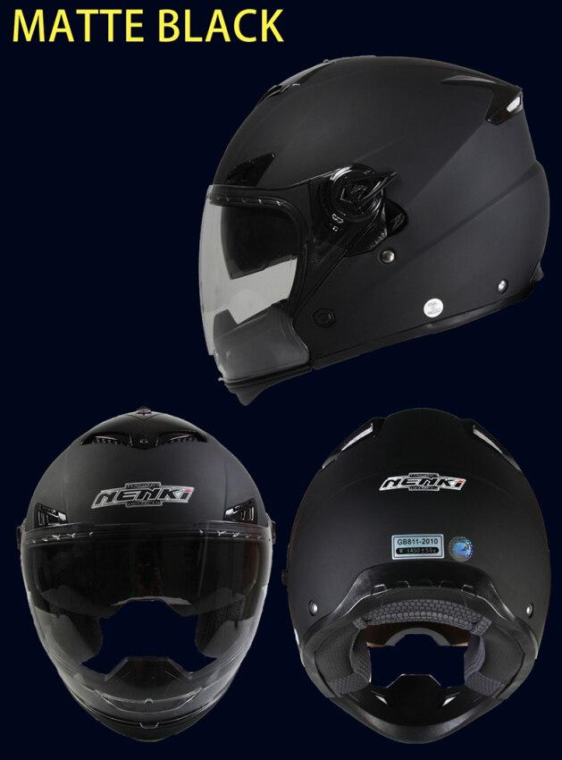 Sun Visor Full Face Helmet Matte Black From China - intl