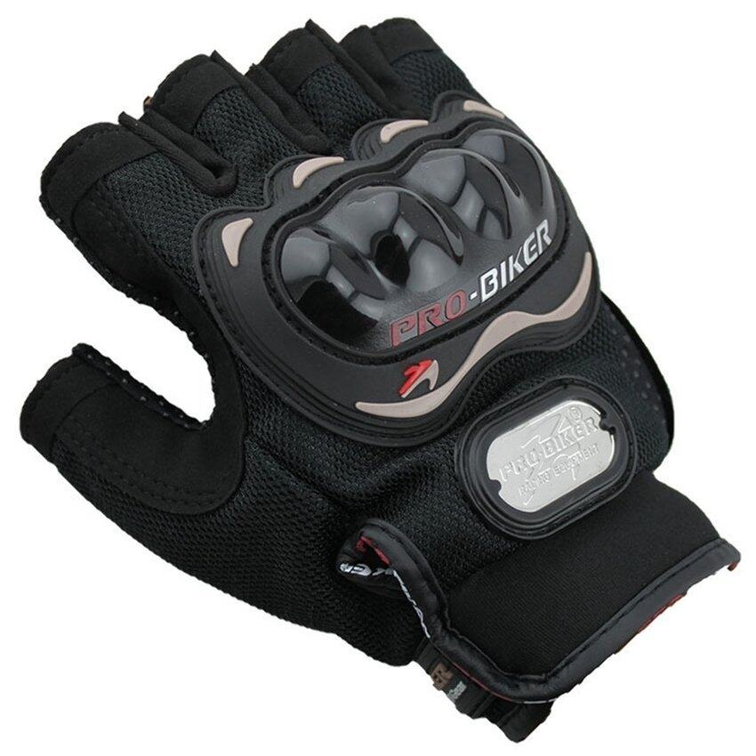 SW Men Motorcycle Gloves Motorbike Carbon Fiber Bike Racing Half Finger Black XL (Intl)