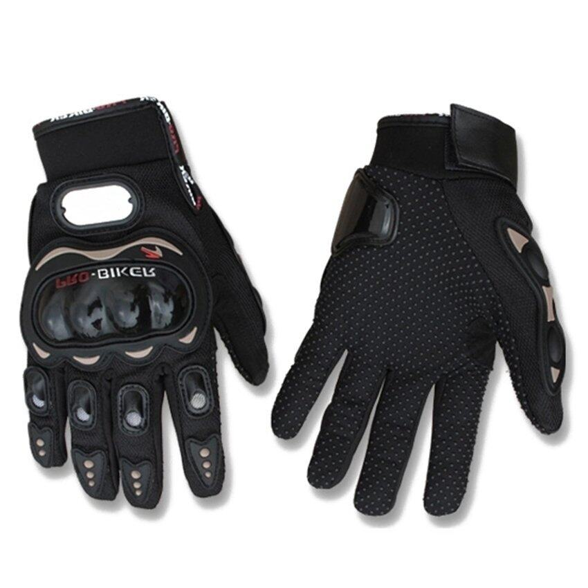SW Motorcycle Gloves Motorbike Carbon Fiber Biker Bike Racing Full Finger Black M (Intl)