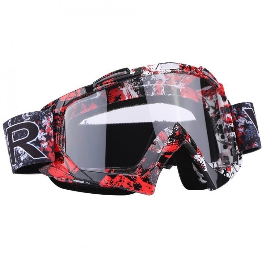 Sweatbuy Motorcycle Motocross Dirt Bike Off-Road Racing Goggles Ski Glasses Eyewear P932 Clear-Lens - intl