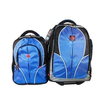 Swiss Gear Double Backpack with Trolley รุ่น KW-026 - สีฟ้า ...