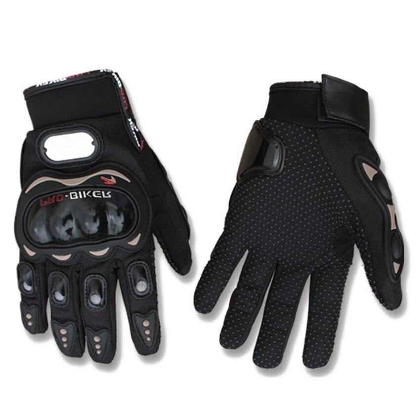 Sworld Motorcycle Gloves Motorbike Carbon Fiber Biker Bike Racing Full Finger Black L (Intl)