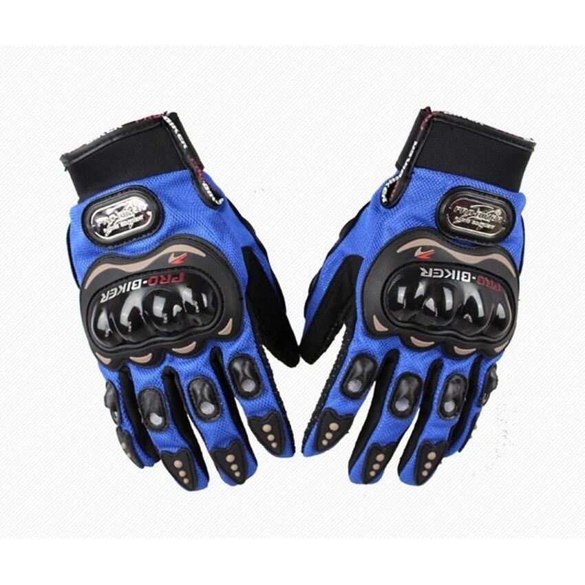 Sworld Motorcycle Gloves Motorbike Carbon Fiber Biker Bike Racing Full Finger Blue M (Intl)