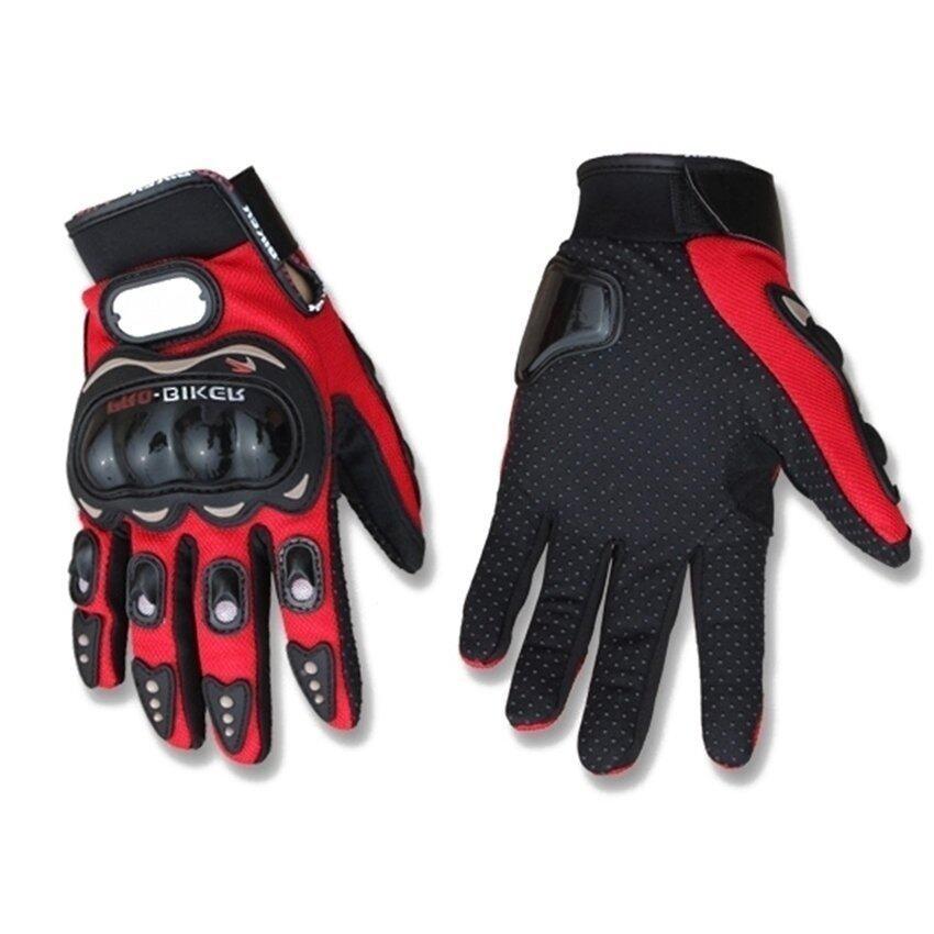 Sworld Motorcycle Gloves Motorbike Carbon Fiber Biker Bike Racing Full Finger Red L (Intl)