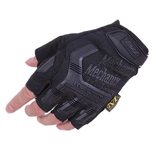 Tactical Half-finger Mountain Outdoor Warm Motorcycle Racing Cyclists Gloves (Black)