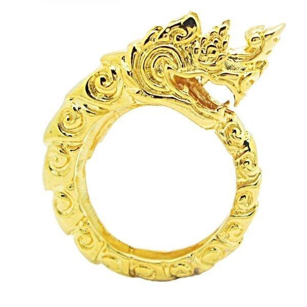 aaa TanGems แหวนฟรีไซส์พญานาคชุบทอง รุ่น 1812 (ทอง) Sbobet