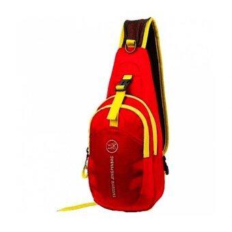 Tanluhu กระเป๋าสะพายพาดลำตัว กระเป๋าคาดอก Travel Shoulder Bag รุ่น D02N (สีแดง)