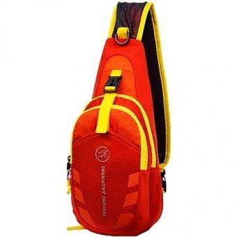 Tanluhu กระเป๋าสะพายพาดลำตัว กระเป๋าคาดอก Travel Shoulder Bag รุ่น D02N (สีส้ม)