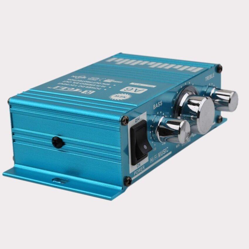 TELI-A6 Mini Hi-Fi Audio Mono Amplifier for Car Motorcycle Boat Home (Blue) - intl