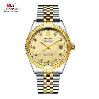 TEVISE Men Brand Watch Fashion Luxury Wristwatch Waterproof Semi-automatic Mechanical Watch Luminous Sport Casual