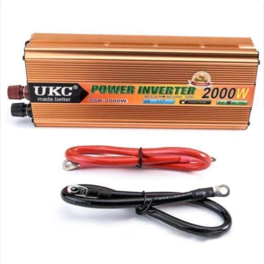 Thaivasion UKC Power Inverter 2000W with Charger 12V DC to 220V AC Output