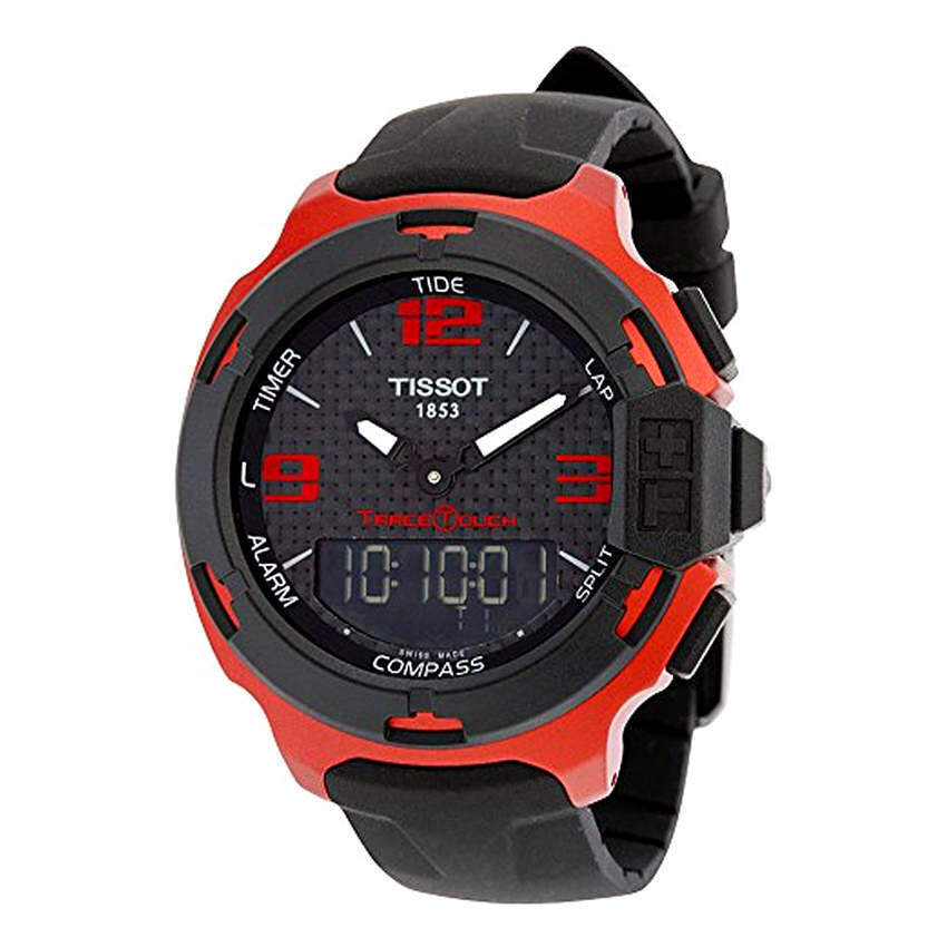 Tissot T-Race Touch Aluminium Black Dial Black Silicon Mens Sports Watch T0814209720700 (Intl) ...