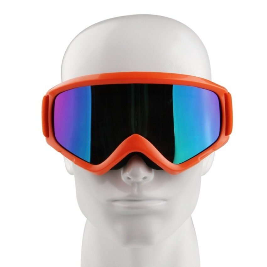 UJS Fashion Adult Orange Frame Reflective Lens Motorcycle Ski Snowboard Dustproof Sunglasses Eye Glasses Lens Frame Goggles New (Intl)