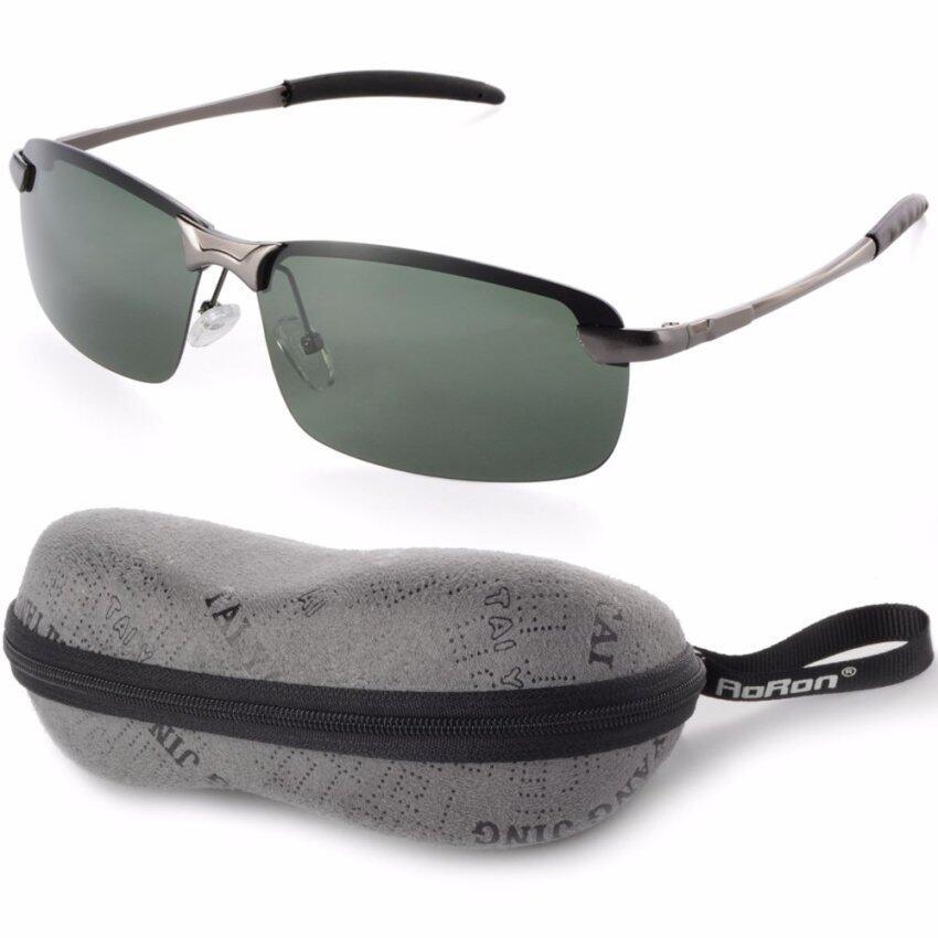 สุดยอดสินค้าUV400กีฬากลางแจ้งสนามแม่เหล็กแว่นตาแว่นตากันแดดขับรถสีเขียว+สีเทากรอบOS389-SZ ราคาย่อมเยา