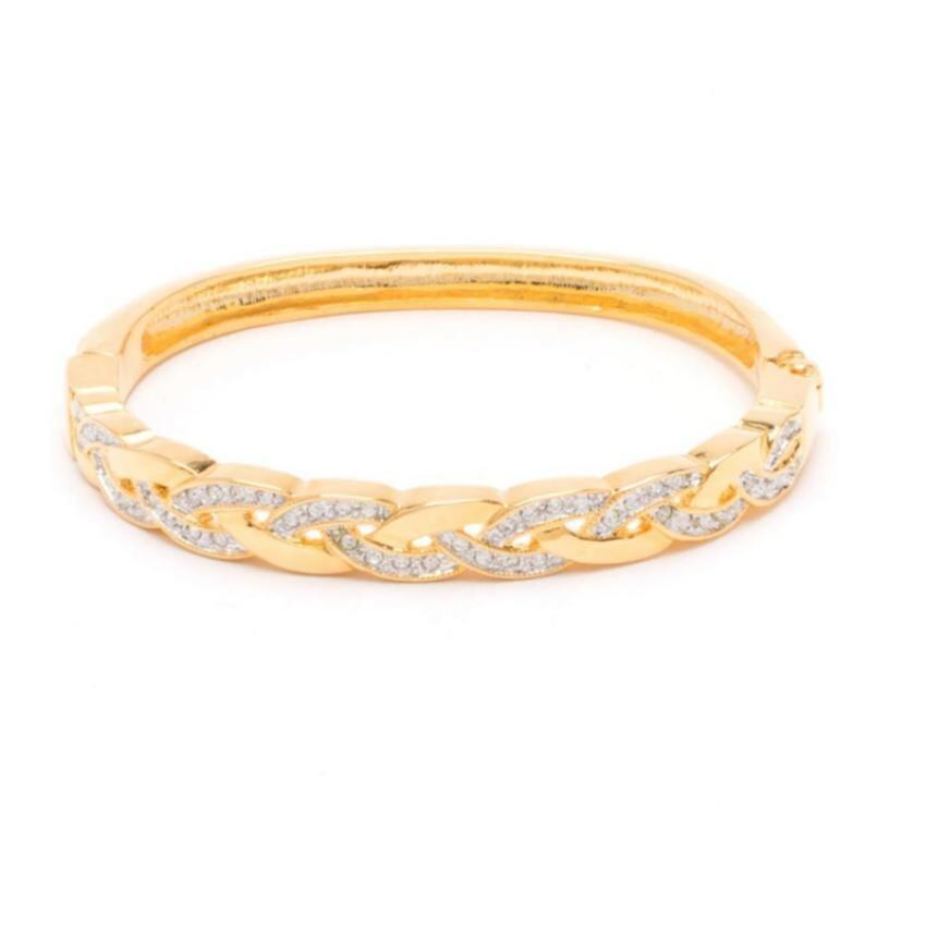 aaa W-Jewelry กำไล ข้อมือประดับคริสตัล Austria รุ่น B0293(สีเงินกึงทองคำขาว) Sbobet