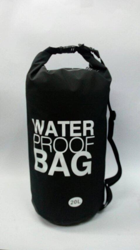 Waterproof Bag กระเป๋ากันน้ำ ถุงกันน้ำ สีดำ ขนาดความจุ 20 ลิตร