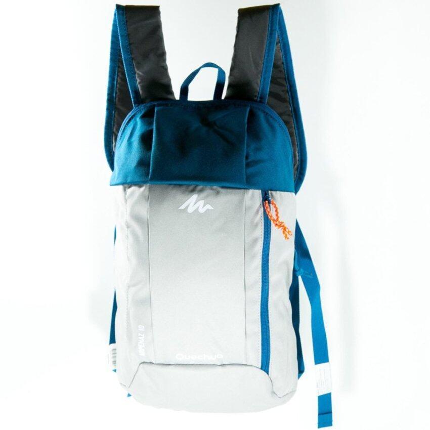 กระเป๋าเป้จักรยาน เป้กันน้ำ สำหรับปั่นจักรยาน เป้เดินป่า รุ่น Waterproof Bag Grey/ Navy Blue เทา ฟ้า