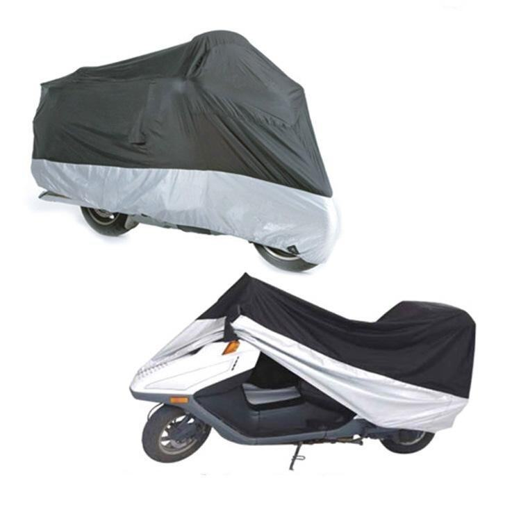 Waterproof dustproof cover color matching motorcycles motorcycle cover electric car is prevented bask in clothes - intl