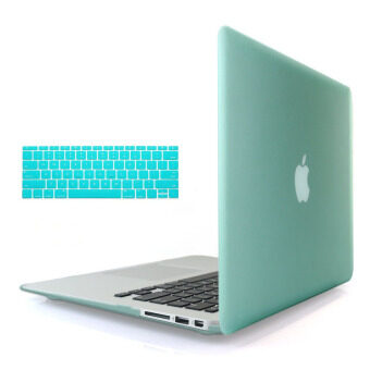 Welink 3ใน1 ด้าน Apple MacBook Air 33.02ซมเคส/นิ่ม-แข็งพลาสติกฝาเคส Touch+ป้องกันฝุ่นปลั๊ก+แป้นพิมพ์ปกสำหรับ Macbook Air 33.02ซม [รุ่น: A1369/A1466] (สีเขียว)