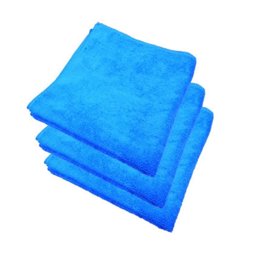 Z-one ผ้าไมโครไฟเบอร์ เกรด A ขนาด 40x40 ซม. - สีน้ำเงิน (แพค 3 ผืน) ...