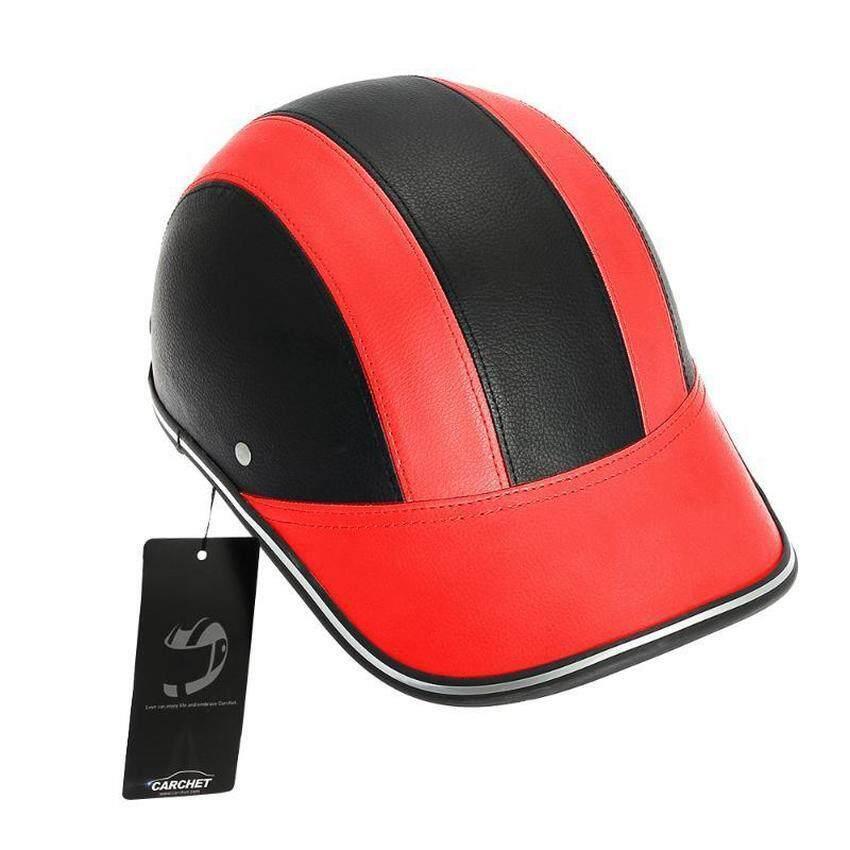 ZhuoDa Motorcycle Half Face Helmet Protective Helmets Pith HelmetBaseball Cap 5 Colors-Red - intl