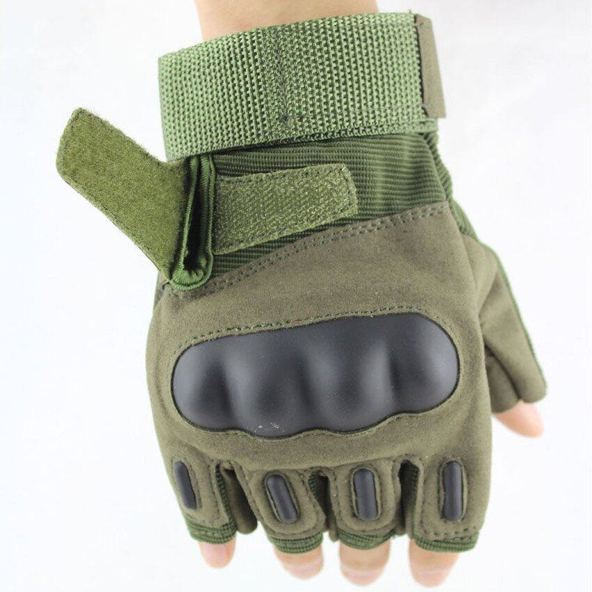 ZhuoDa Outdoor Camping Military Swat Airsoft Hunting ShootingMotorcycle Riding Cycling Safety CS Paintball Army Armed TacticalGloves Army Green - intl
