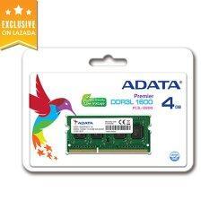 Adata Ram รุ่น DRAM DDR3L 1600 SO-DIMM 4GB (For Notebook)