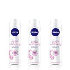 ดีโอ สเปรย์ นีเวีย NIVEA Deo Spray Extra Whitening Care 150ml (แพ็ค3)